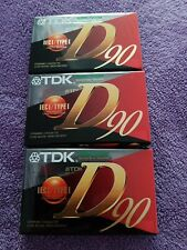 3 x TDK D90 IEC1 / Type 1 Audio Cassettes (New/Sealed) Tapes