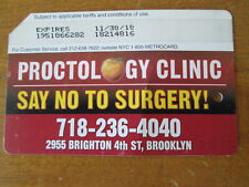 Proctology Clinic Metrocard Subway Nyc Surgery Apple Expired Brooklyn Mta Subway