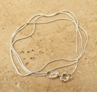 "925 STERLING SILVER SNAKE CHAIN NECKLACE 16"" or 18"" INCH"