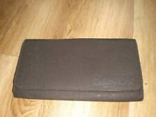 RESERVE BROWN CANVAS WALLET STYLE   CLUTCH BAG