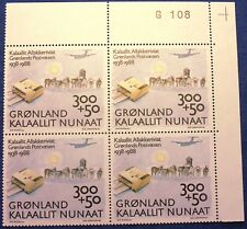 Greenland Marginal Block G108 1988 Greenland Post 50th Anniversary- MNH