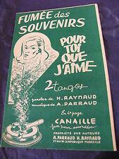 Partition Fumée des Souvenirs Pour toi que j'aime A Parraud Music Sheet