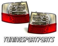 REAR TAIL LED LIGHTS RED-CRISTAL FOR AUDI A6 C5 97-04 AVANT LAMPS FANALE
