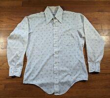 Vintage 70s Men's Mod Floral Button Up Shirt - Van Heusen Century