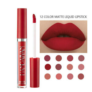 12-Color Waterproof Liquid Matte Long Lasting Lip Gloss Velvet Lipstick Makeup