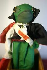 """VINTAGE 1987 JACK IN THE BOX HANDMADE WOODEN BY JAX OF MAINE """"FROG PRINCE"""""""