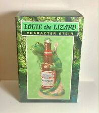 "New listing Vintage Budweiser ""Louie the Lizard� Character Stein - Lidded Stein - Nib"