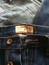 Roc A Wear Boot Cut 38x34 Original Style Button Fly Blue Jeans EUC