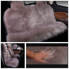 Car Winter Long Wool Seat Cover Natural Plush Warm Seat Pad Interior Accessories