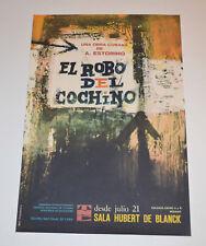 Cuban Theater Poster Art.Home or Room Decoration.El robo del cochino.Stolen pig