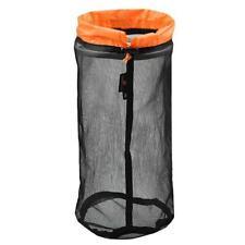 Outdoor Mesh Stuff Sack Ultralight Camping Sport Drawstring Storage Leisure Bag