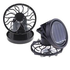 1pc Black Solar Power Cell Fan Clip-on Stand Powered Cooler Portable Travel Fan