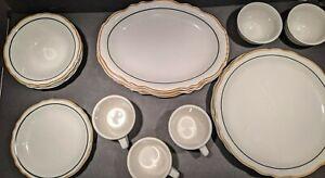"""Homer Laughlin Restaurant Ware-Scalloped Gold/Black Trim aka Syracuse """"Dorado"""""""