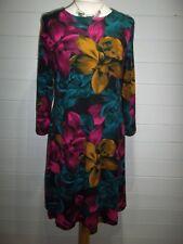 Papaya Dress/Tunic~Size 12/14~Multi Coloured~3/4 sleeve~Casual Everyday~1955