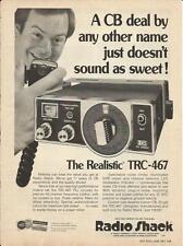 '77 Radio Shack ad for Realistic TRC-467 CB Radio- Print Magazine ad