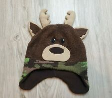 Healthtex Boys Toddler Winter Cap Hat Beanie Rain Deer Camo Size 2t-5t