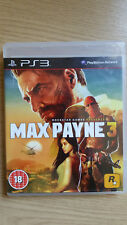 Max Payne 3 - Sony PlayStation 3 (PS3) - Boxed Completion - Very Good Condition