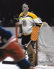 "DON ""Dippy"" SIMMONS Defends HIS NET 8x10 Photo BOSTON BRUINS Star GOALIE WoW"
