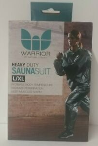 """Warrior by Natural Fitness Heavy Duty Sauna Suit *L/XL*-Fits waists up to 44"""""""