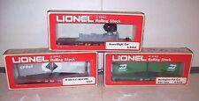 NEW BOXED Lionel Cars,#9133 Burlington#9149CP Rail Flats/Vans, #9302Searchlight