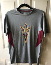 "NWT ASU Arizona State Mens Short Sleeved Shirt Fork Gray Small S 39"" Chest"