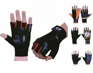 Echo GYM Gloves Weight Lifting Leather Body Building Exercise Training Workout