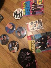New Kids On The Block Vintage Pins Hat Books Stickers Nkotb Rare