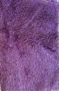 Mohair Fabric, Fat 1/4, Sparse, 21mm hand dyed Deep Plum Colour - SALE PRICE