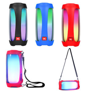 Silicone Case Cover Skin With Strap JBL Charge 4 Wireless Bluetooth SpeakerL MB