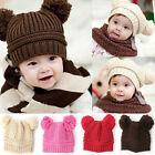 Cute Baby Boy/Girl/Toddler Lovely Knit Crochet Hat Children Beanie Cap 5 Colors