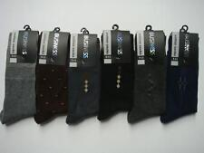 12 X NEW COTTON MENS WORK/BUSINESS/DRESS SOCKS  SIZE: 7-11 MIXED COLOUR ASSORTED