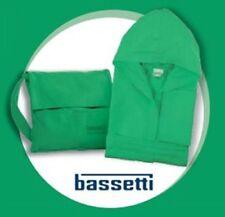 BASSETTI Accappatoio in Microfibra con Cappuccio Verde Uomo/Donna Taglia L/XL