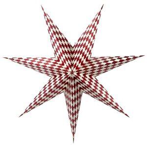 IKEA STRALA Stern Hängeleuchte in rot kariert Lampe Weihnachtsstern 70cm NEU