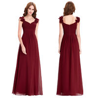 Long Formal Occasion Bridesmaid Evening Gown Prom Dress Cocktail Party Dress YF