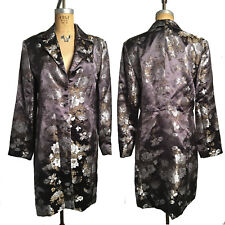 McClintock 12 Silver Floral Jacquard Jacket Frock Coat Steampunk Victorian