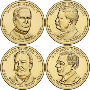 2013 US P or D Unc Presidential Dollar Coin Set