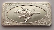 1 TROY OZ .999 PATRICK MINT SAN FRANCISCO PONY EXPRESS SILVER BAR FREE SHIPPING