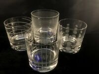 MIKASA CHEERS DOUBLE OLD FASHIONED GLASSES SET (4) NEW