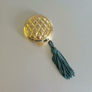 Vintage Tova Solid Perfume Quilted Compact with Tassel