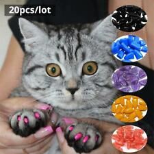 20pcs Pet Cat Nail Caps Claw Control Xs/S/M/L Size Usa Fast Shipping