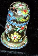 "3.5"" Floral Enamel Modern Cloisonne-Look Trinket Box - Chinese *Estate Hoard*"