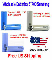 Lot 2 Wholesale Samsung 21700 Rechargeable High Drain Battery Flat Top - New