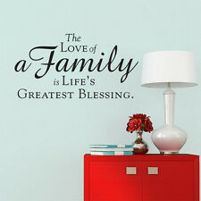 The Love Of A Family IS Life's Greatest Blessing Vinyl Wall Stickers Decor Decal