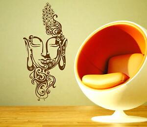 Buddha Mask Yoga Studio Gautama Shakyamuni Decorative Vinyl Wall Sticker Decal
