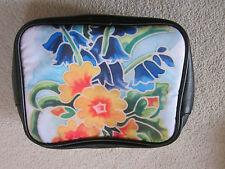 NUOVO Mini Toeletta/Cosmetico Borsa con design fiore su entrambi i lati