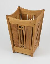 Arts and Crafts, Mission Waste Basket Cherry Wood with Ebony