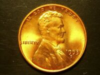 1953-D  ONE UNC LINCOLN WHEAT CENT #9