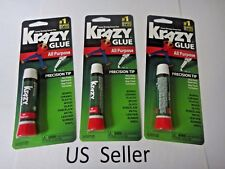 3 Packs Krazy Glue Instant strong Glue crazy fast Tube All Purpose 0.07 oz  USA