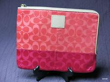 Coach Tablet Case New W/Tags Signature C Satin Coral/Pink Ruby