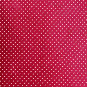 Red White Polka Dots Silk